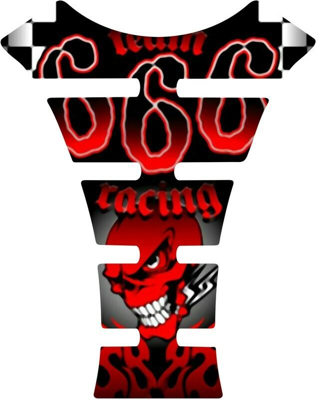 666 Skull Racing. Black Universal Fit