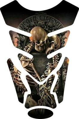Death Eternal Skulls Tank Pad. Universal Fit