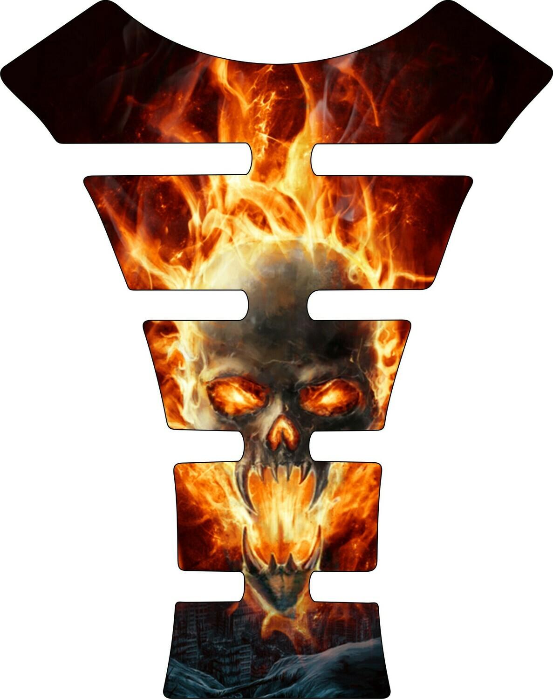 Fiery Skull Tank Pad. Universal Fit