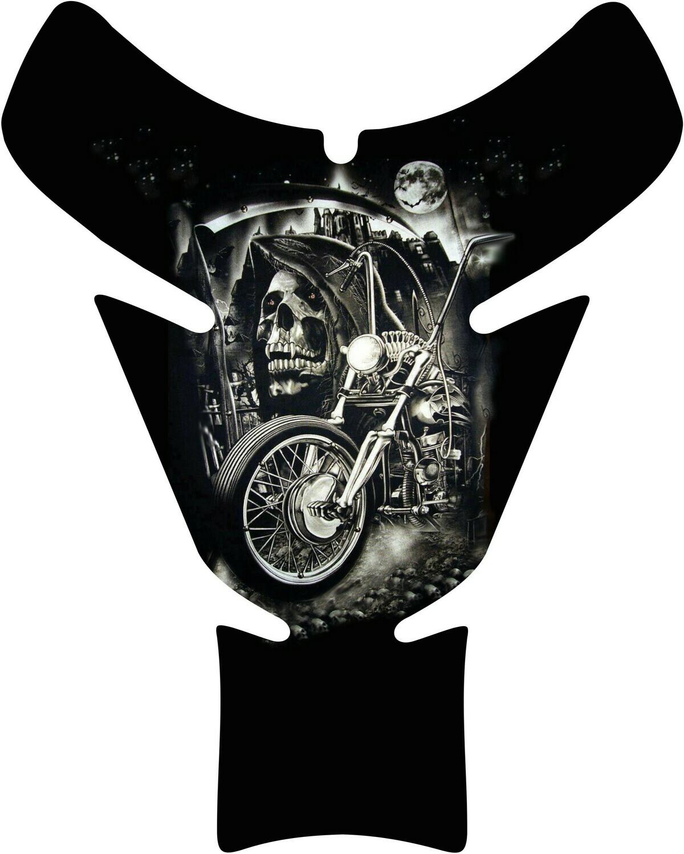 Reaper Bike and Skull Tank Pad. Universal Fit