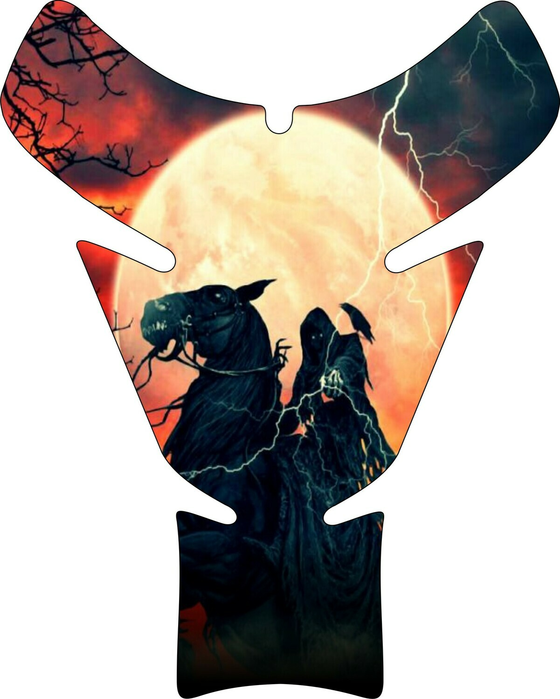 Moon Rising Reaper Skull Tank Pad. Universal Fit