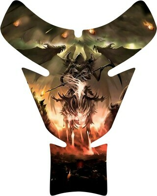 Angelic Reaper Skull Tank Pad. Universal Fit