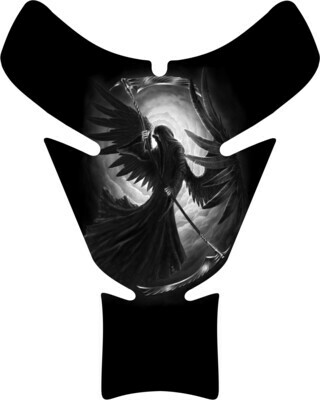 Black Angelic Reaper Skull Tank Pad. Universal Fit