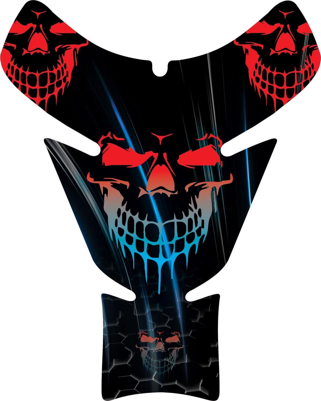 Reaper Neon Skull Tank Pad. Universal Fit