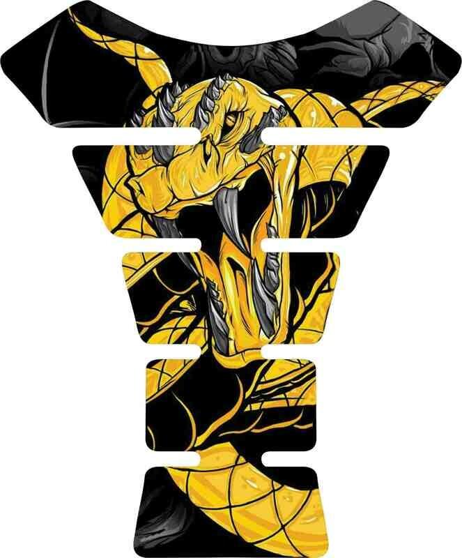 Snake / Viper. Yellow and White Tank Pad