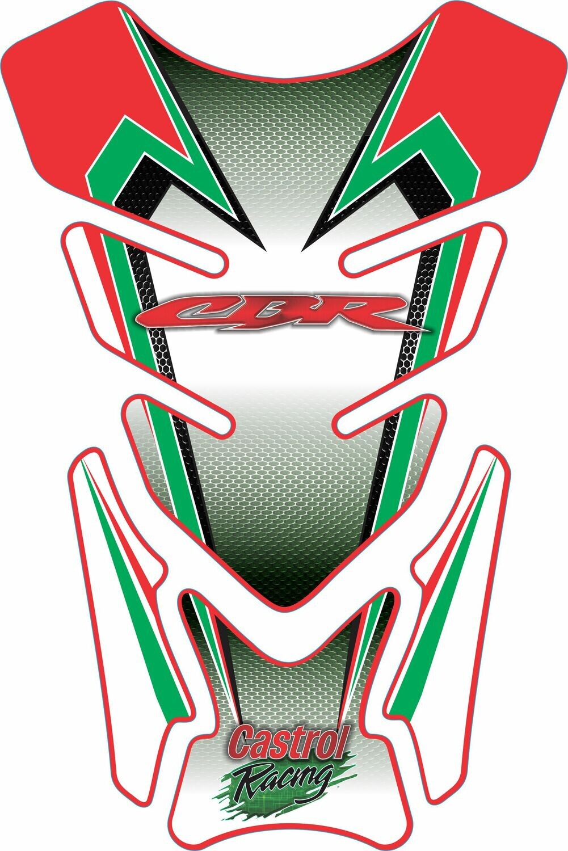 Honda Castrol Motor Bike Tank Pad - Universal Fit