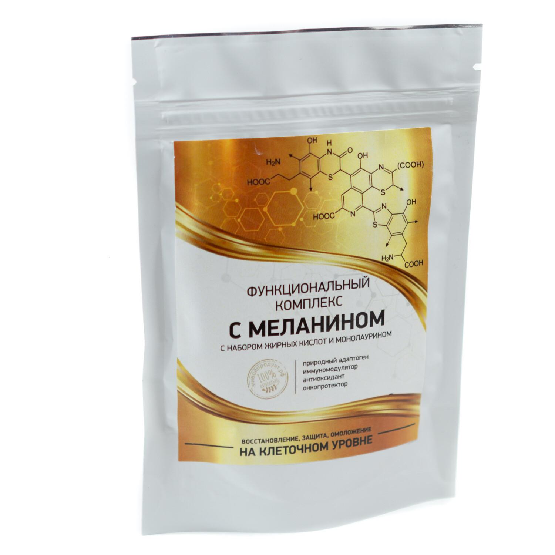 Функциональный комплекс с меланином, набором жирных кислот и монолаурином