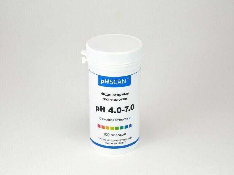 Индикаторные тест-полоски pHSCAN 4.0-7.0