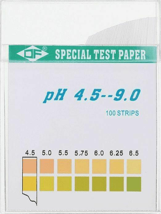 Индикаторные тест-полоски для определения pH 4.5-9.0