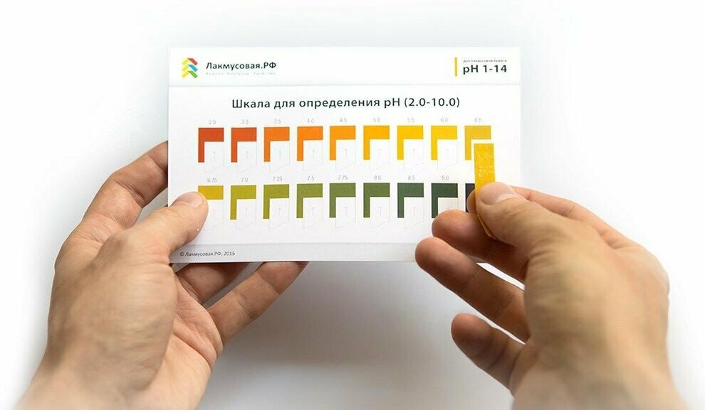 Дополнительная шкала c шагом 0.25-0.5 для лакмусовой бумаги pH1-14
