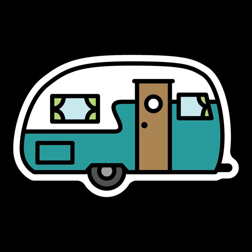 Retro Camper Sticker