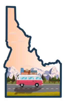 Idaho Bus Adventure Decal