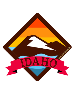 Idaho Retro Decal