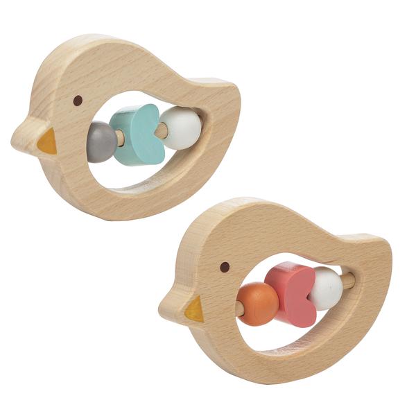 "4"" Bird Activity Toy Wood"