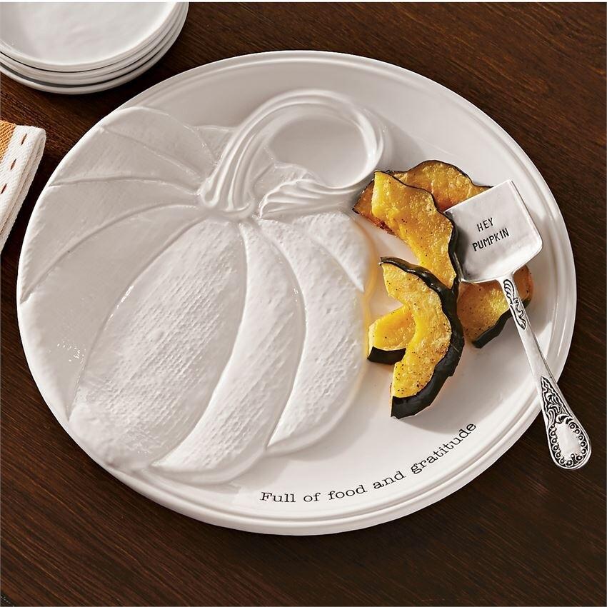 Round Pumpkin Platter Set