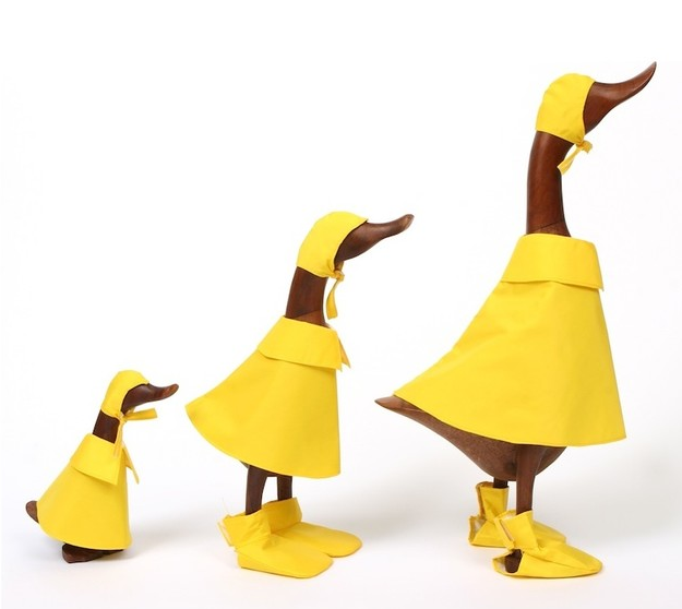 Teak Puddle Duck Family (3 ducks)