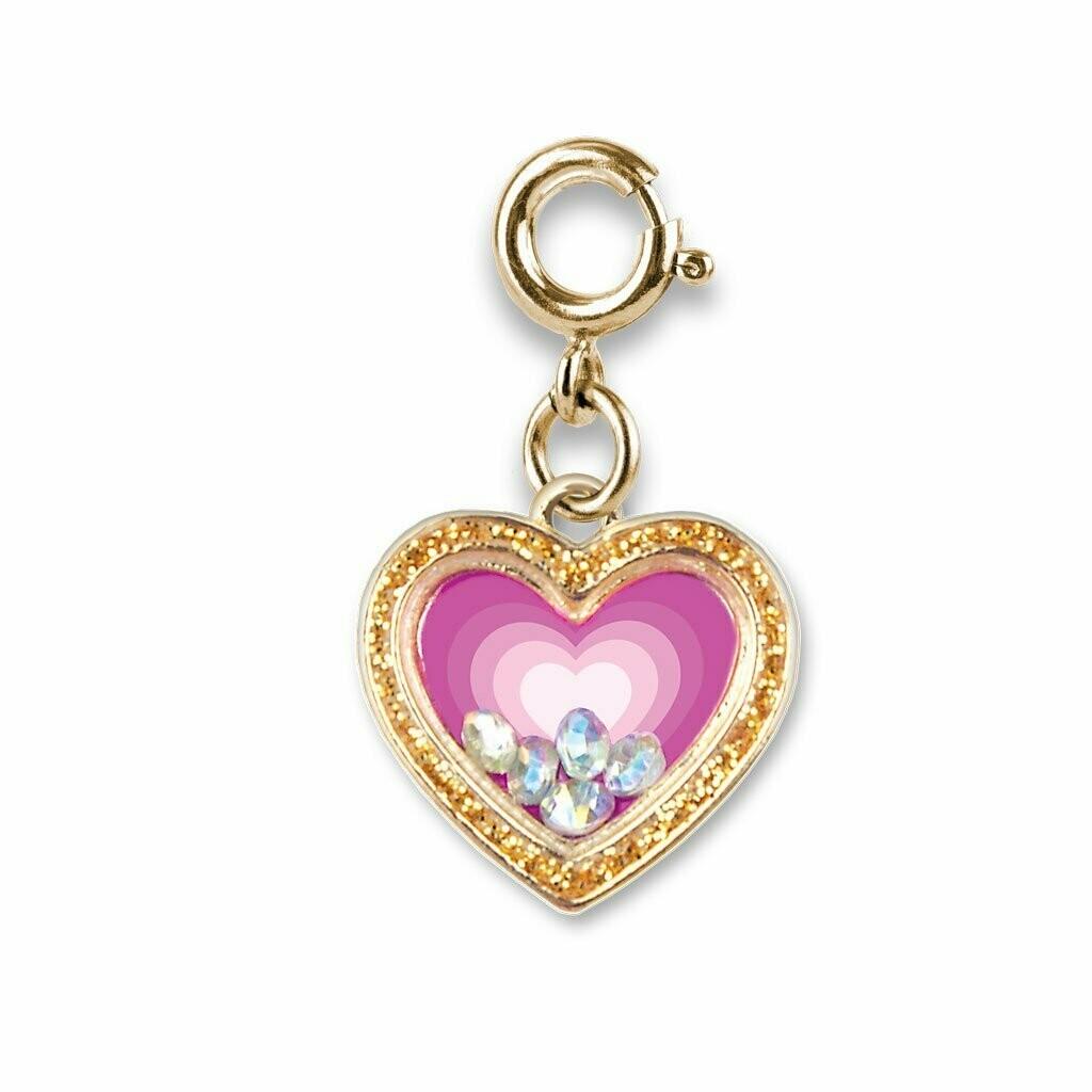 Gold Heart Shaker Charm