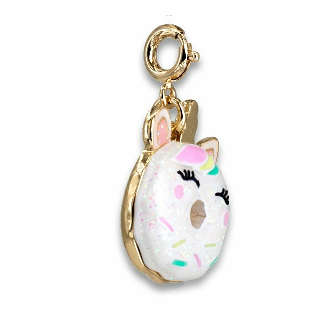 Gold Unicorn Donut Charm