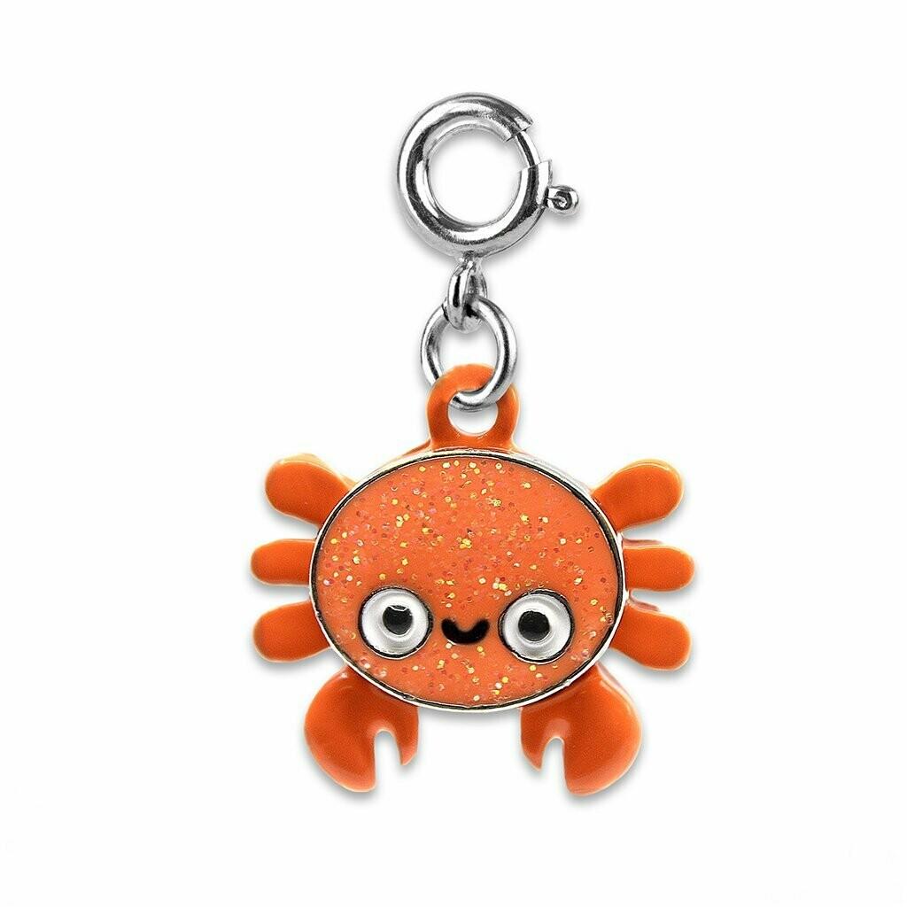 Glitter Crab Charm