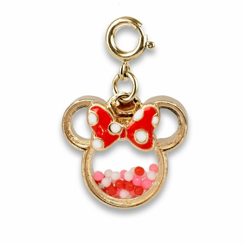 Gold Minnie Shaker charm