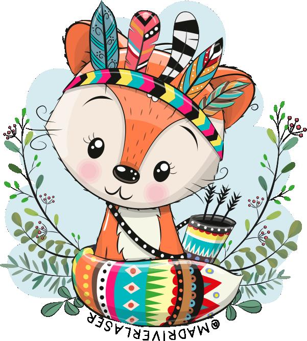 Foxy Woodland Sticker