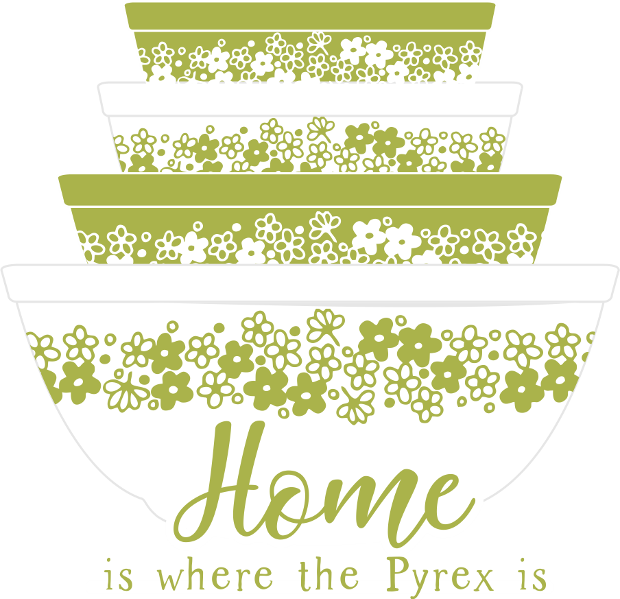 Pyrex - Home is where the Pyrex is Sticker