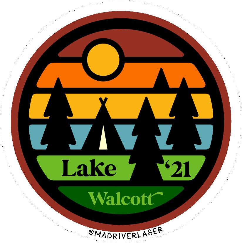 Lake Walcott Circle Sticker