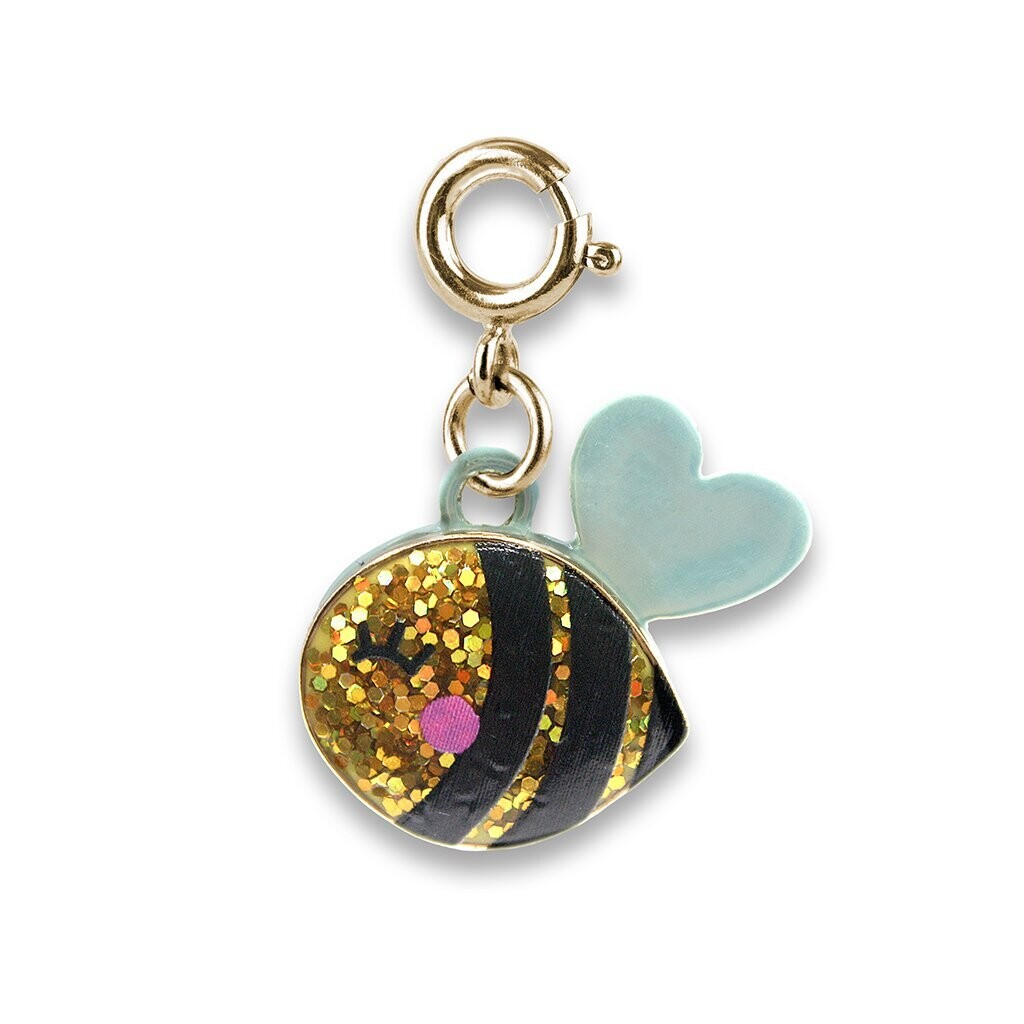 Cold Glitter Bee Charm