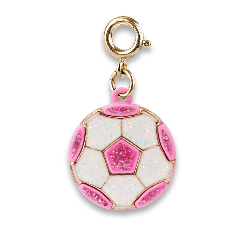 Gold Glitter Soccer ball Charm