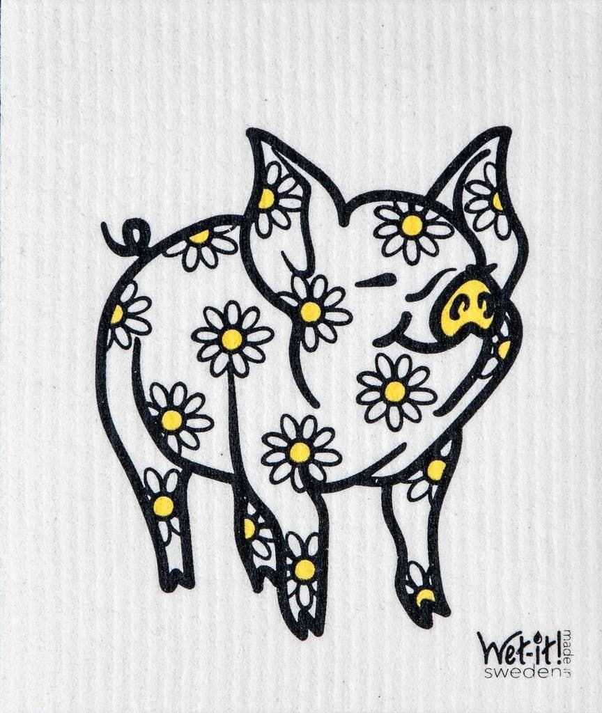 Daisy Pig Swedish Cloth