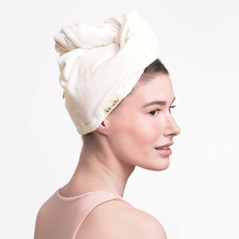 Microfiber Hair Towel - White