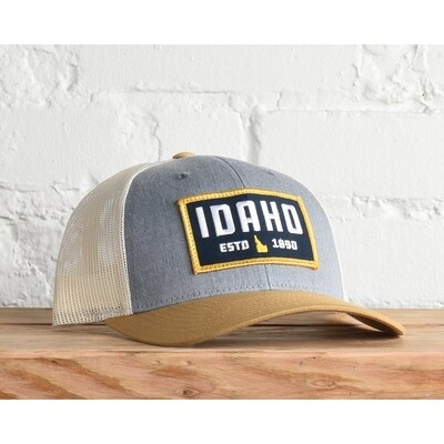Idaho EST 1890 snapback - birch and cream