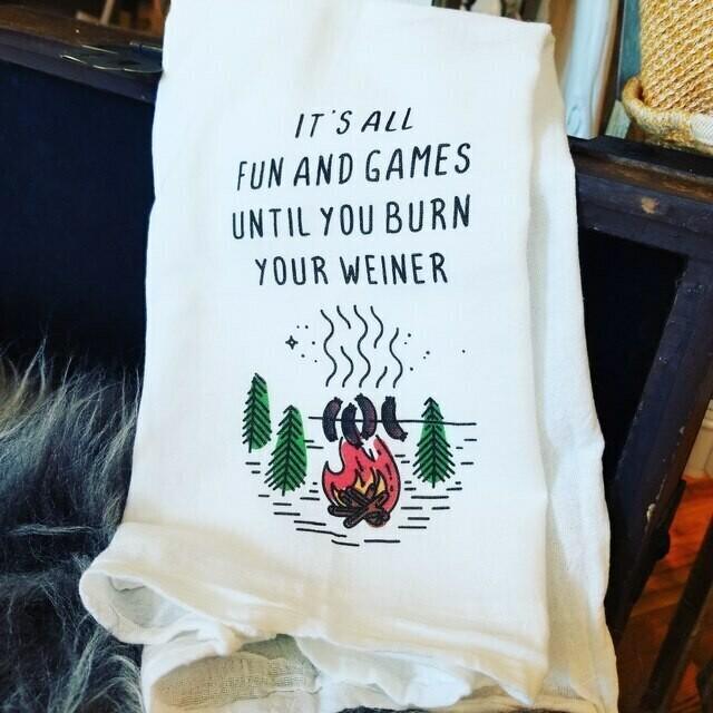 Flour Sack Towel - Burn your Weiner