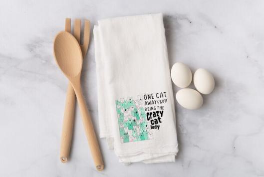 Flour Sack Towel - One Cat Away