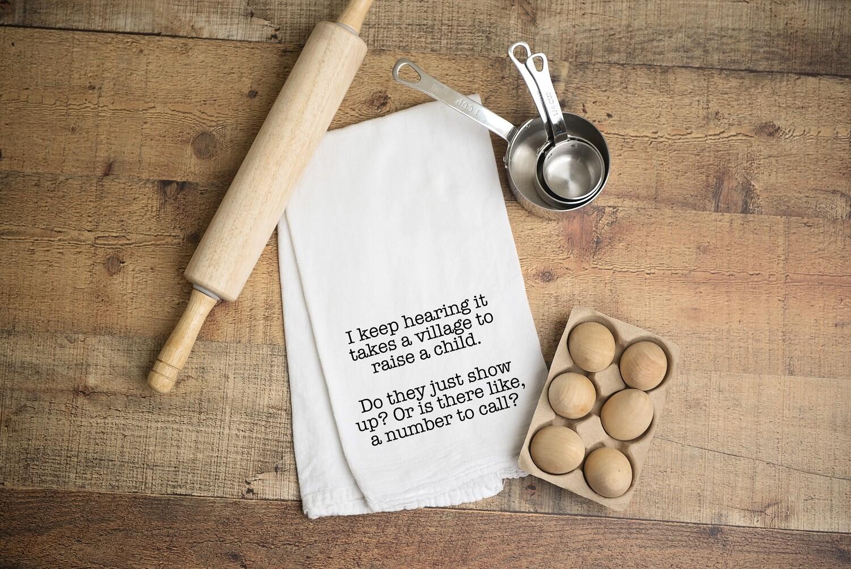 Flour Sack Towel - It takes a village