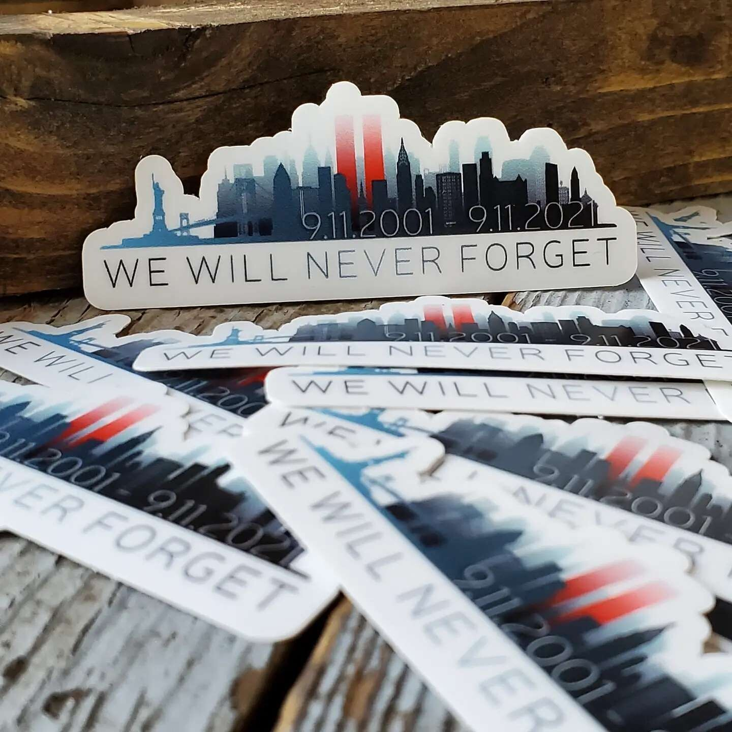 Patriot Never Forget Decal