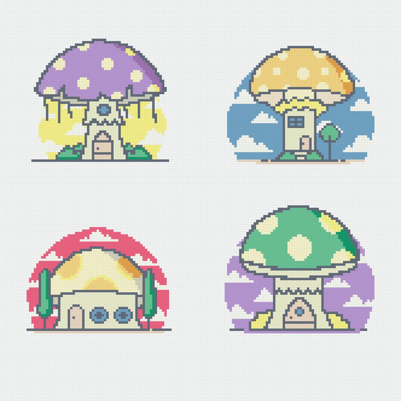 Грибные домики
