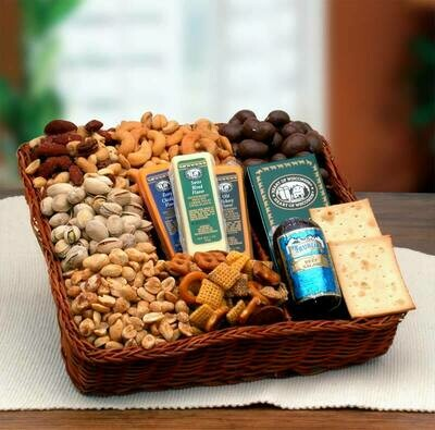 Gift Basket - Snackers Delight Nut and Snack Tray