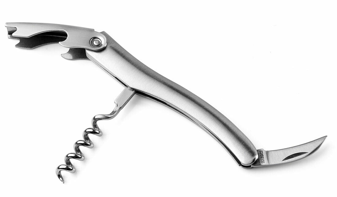 Corkscrew,  Stainless Steel - Visol Thierry