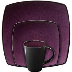 Soho Lounge 16-Piece Dinnerware Set, Purple - Gibson