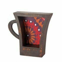 Coffee Cup Shelf, Dark - Accent Plus