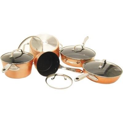 10 Piece Copper Cookware Set - Starfrit