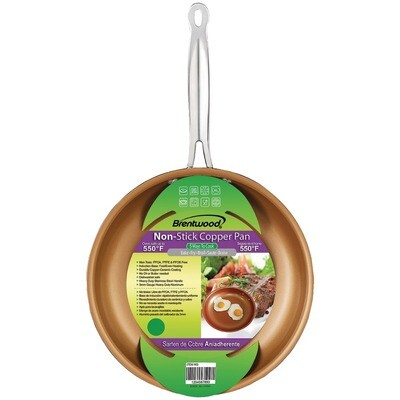 10 Inch Induction Copper Frying Pan - Brentwood