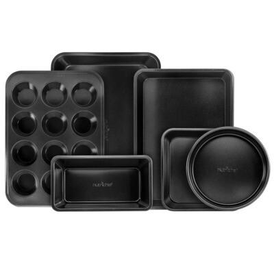 Baking Pan Set of 6 - Black NutriChef