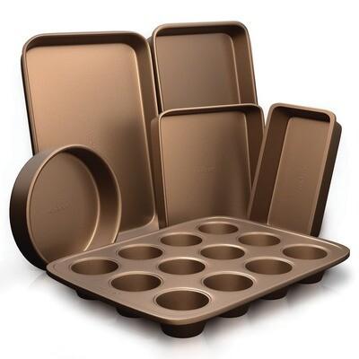 Baking Pan Set of 6 - Bronze NutriChef