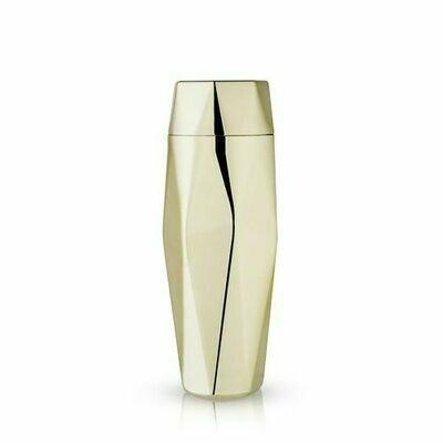 Cocktail Shaker, Faceted Gold - Viski
