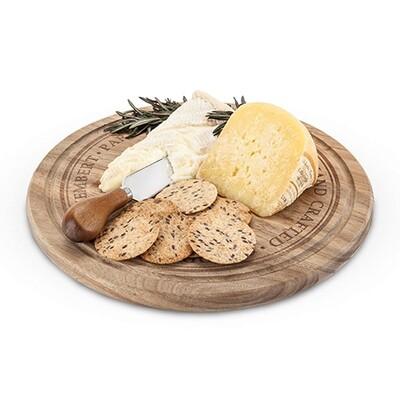 Round Cheese Board & Knife Set - Twine