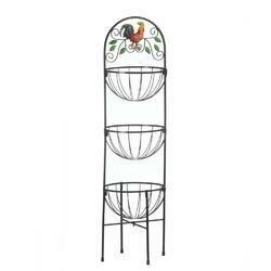 3-Tier Rooster Kitchen Basket - Accent Plus