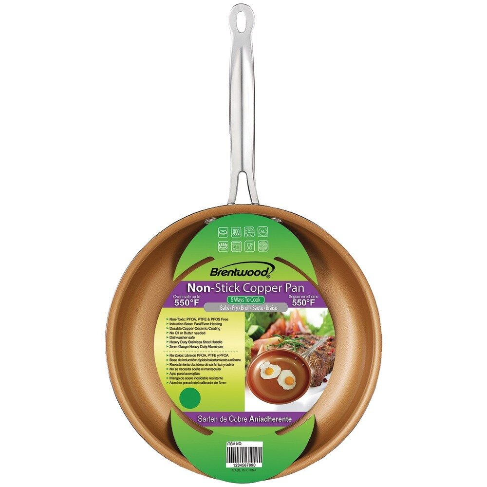 9.5 Inch Induction Copper Frying Pan-Brentwood