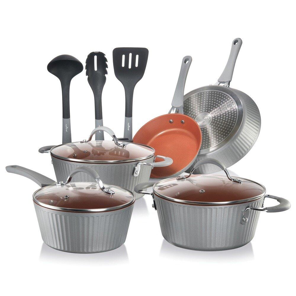 11 Piece Kitchenware Set (Silver) - NutriChef